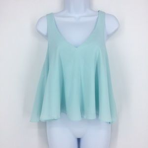 ZARA TRAFALUC Light Blue Cropped Tank
